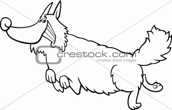 cartoon shaggy dog for coloring book