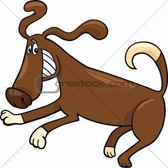 playful dog cartoon illustration