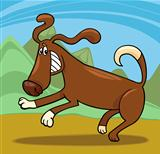 playful dog cartoon illustration
