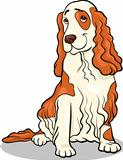 cocker spaniel dog cartoon illustration