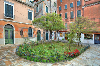 Small courtyard. Venice, Italy.