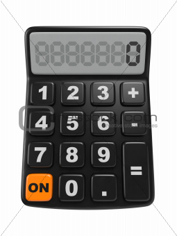 Black Calculator. Mathematics object.