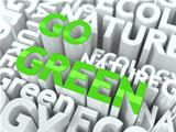 Go Green Concept.