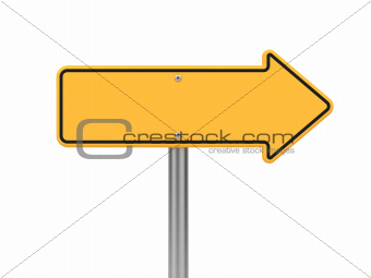 Directional Arrow Road Sign.