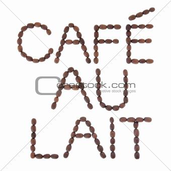 Cafe au Lait Sign