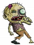 Cartoon Zombie making a grabbing movement