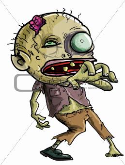 Cartoon Zombie making a grabbing movement