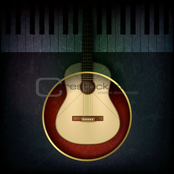 abstract music background with guitar and piano