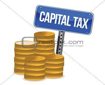 capital tax concept