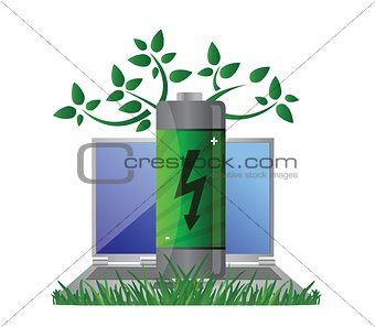 Green energy and notebook