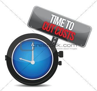 clock with words time to cut costs
