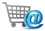 E-mail sign an shopping cart