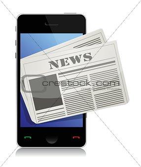 Mobile news concept