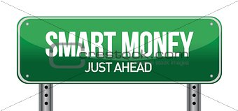 Smart Money Green Road Sign