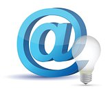 Light bulb and e-mail