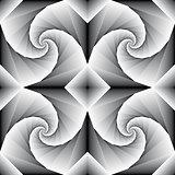 Spiral motion.