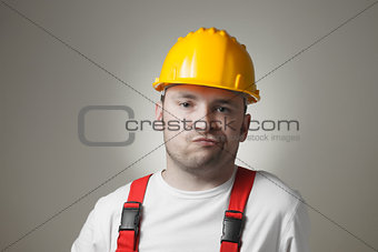 Disappointed young worker
