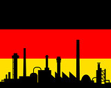 Industry and flag of Germany