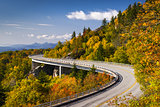 Blue Ridge Parkway Linn Cove Viaduct North Carolina Appalachian Landscape