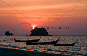 Sunset at Bang Tao Beach, Phuket