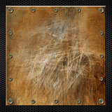 Brown Grunge Metal Background