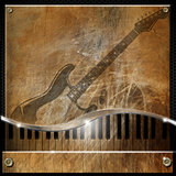 Brown Grunge Music Background