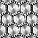 Metallic Hexagons Background
