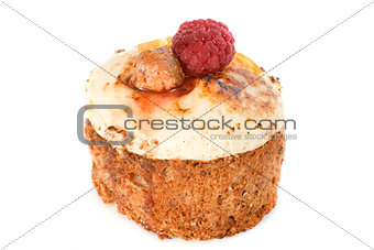 cake with raspberry