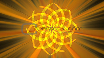 Abstract orange curved shape