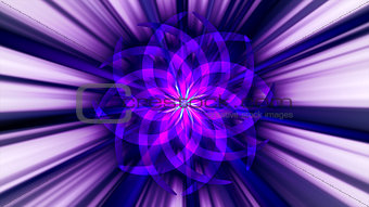 Abstract violett curved shape