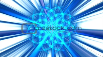 Abstract blue curved shape