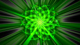Abstract green curved shape