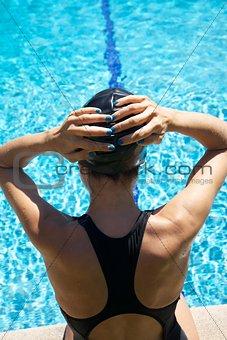 back swimmer ready