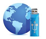 Usb flash memory and the globe