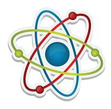 abstract science icon of atom