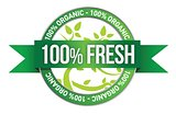 Label of Fresh concept
