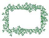 Fresh green leaves banner
