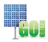 Renewable energy image solar panels