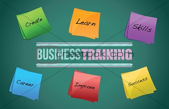 business training colorful diagram graphic
