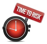 risk time concept clock