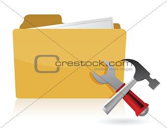 folder settings tools