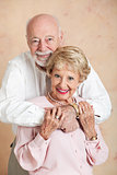 Adorable Senior Couple in Love