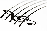 Music sheet with treble clef