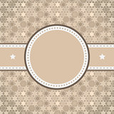 vector rounded retro vintage label on starry background