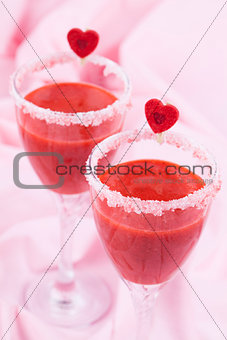 Valentines strawberry drink