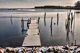 Pier in Nyborg, Denmark