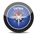 "compass with text ""target"""