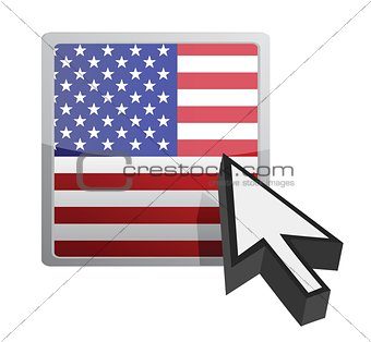 US button and cursor