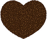 Coffee Beans Heart Background Illustration