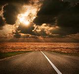 Sea Road at Sunset